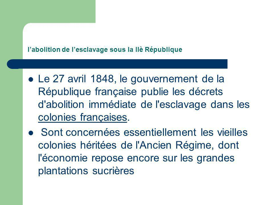 l'abolition de l'esclavage sous la IIè République
