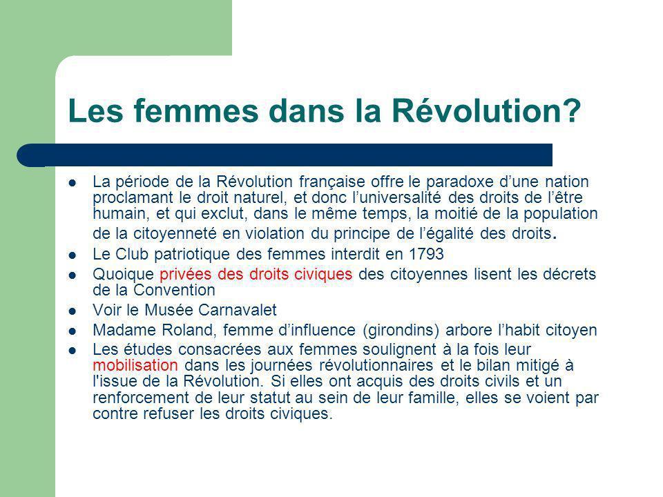 Les femmes dans la Révolution