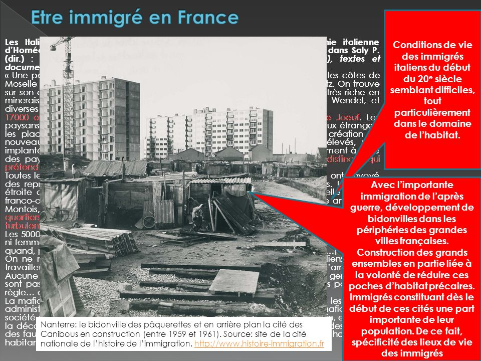 Etre immigré en France