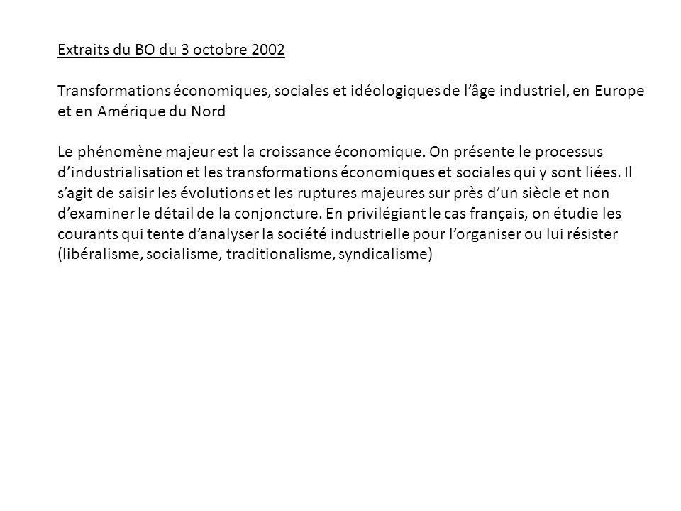 Extraits du BO du 3 octobre 2002
