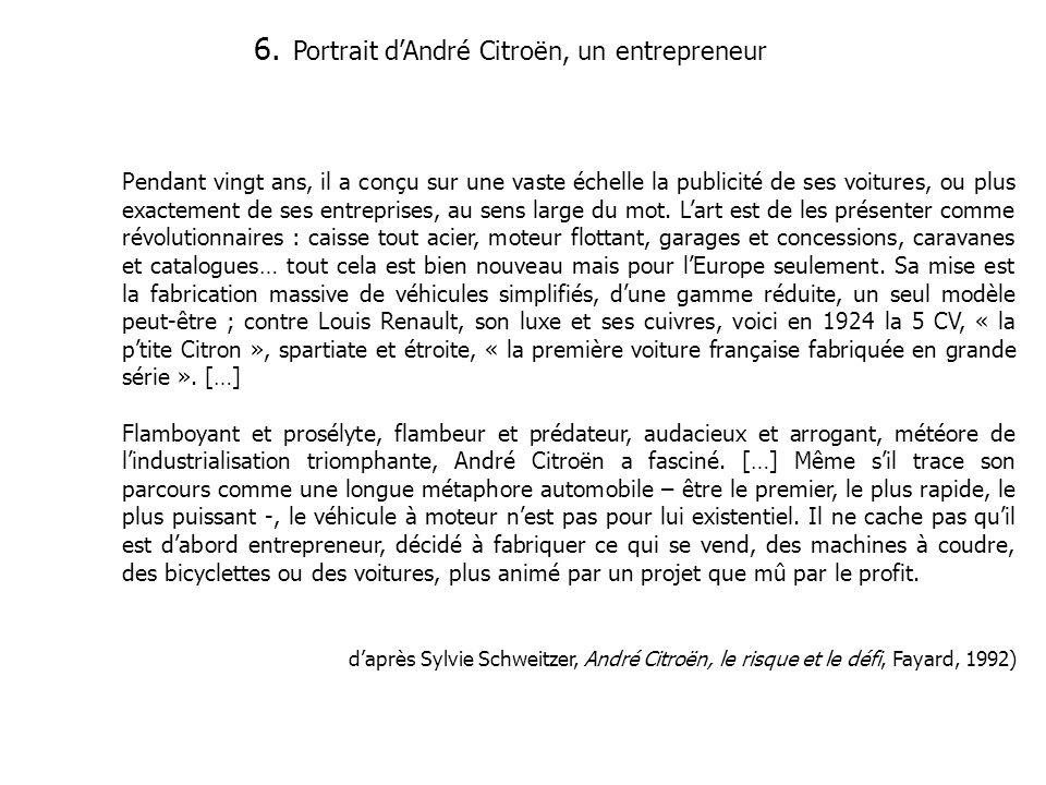 Portrait d'André Citroën, un entrepreneur