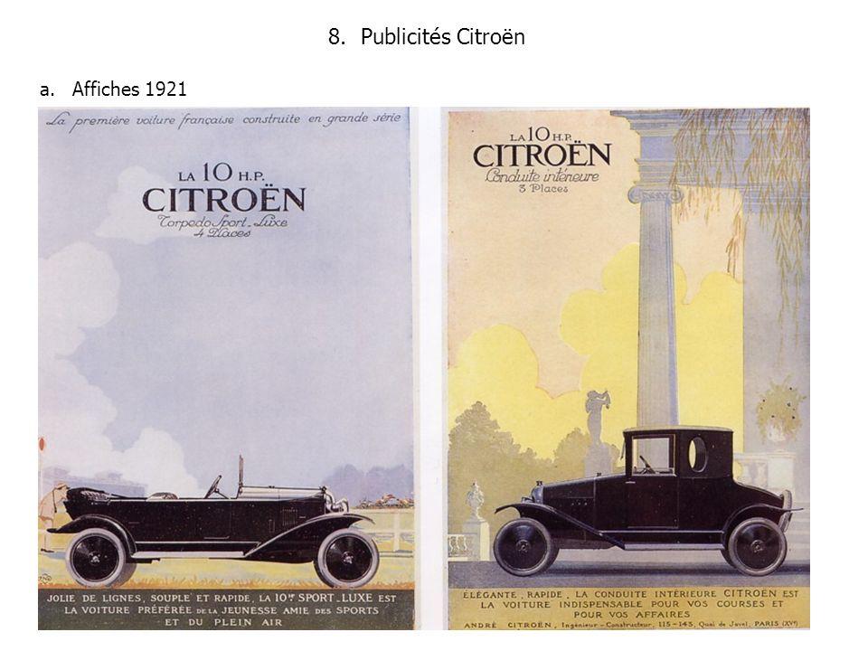 Publicités Citroën Affiches 1921