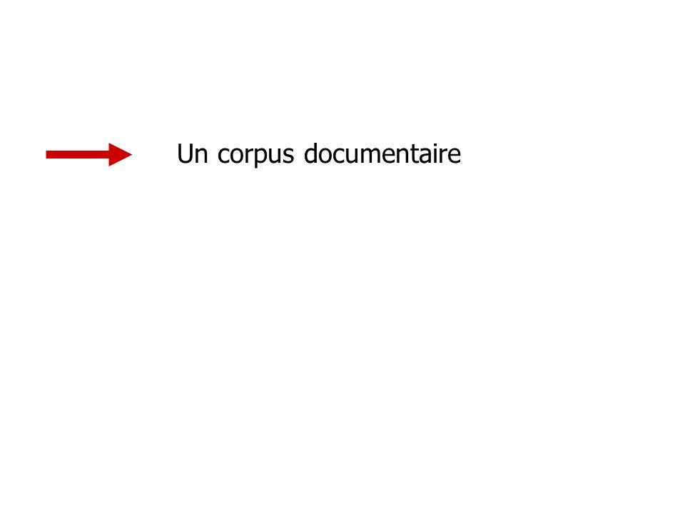 Un corpus documentaire