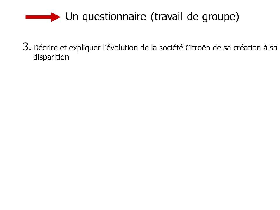 Un questionnaire (travail de groupe)
