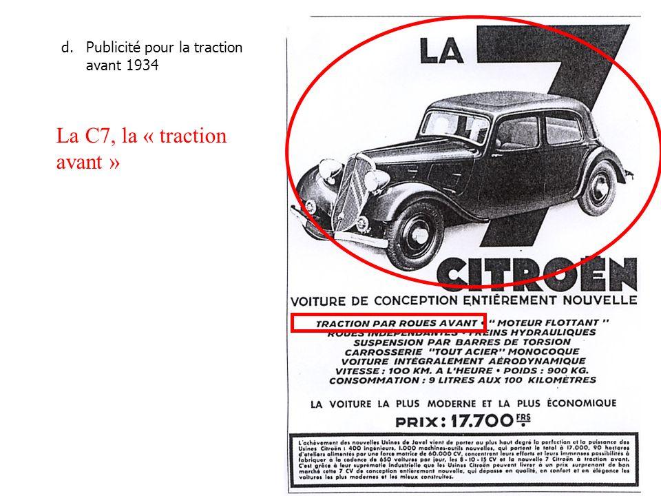 La C7, la « traction avant »