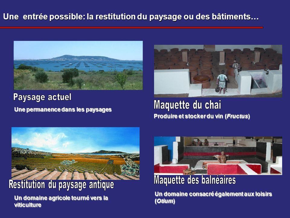Une entrée possible: la restitution du paysage ou des bâtiments…