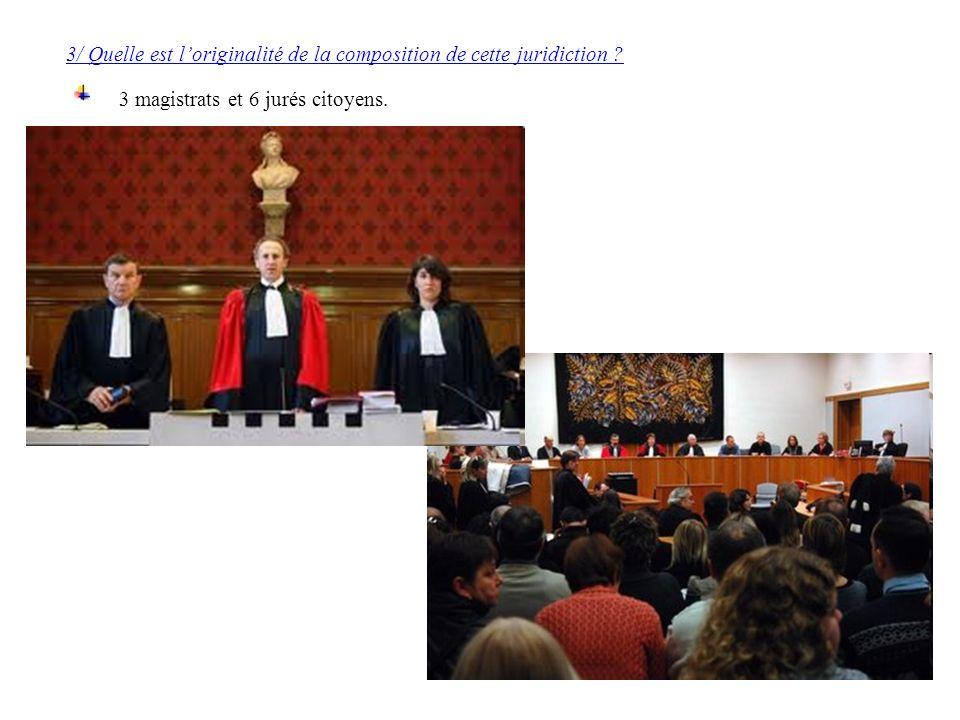 3/ Quelle est l'originalité de la composition de cette juridiction