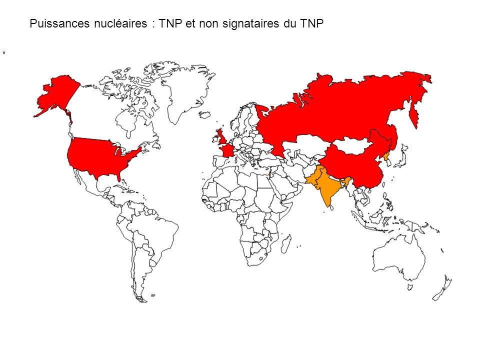 Puissances nucléaires : TNP et non signataires du TNP