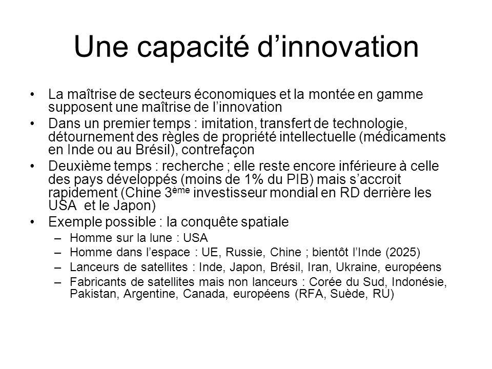 Une capacité d'innovation