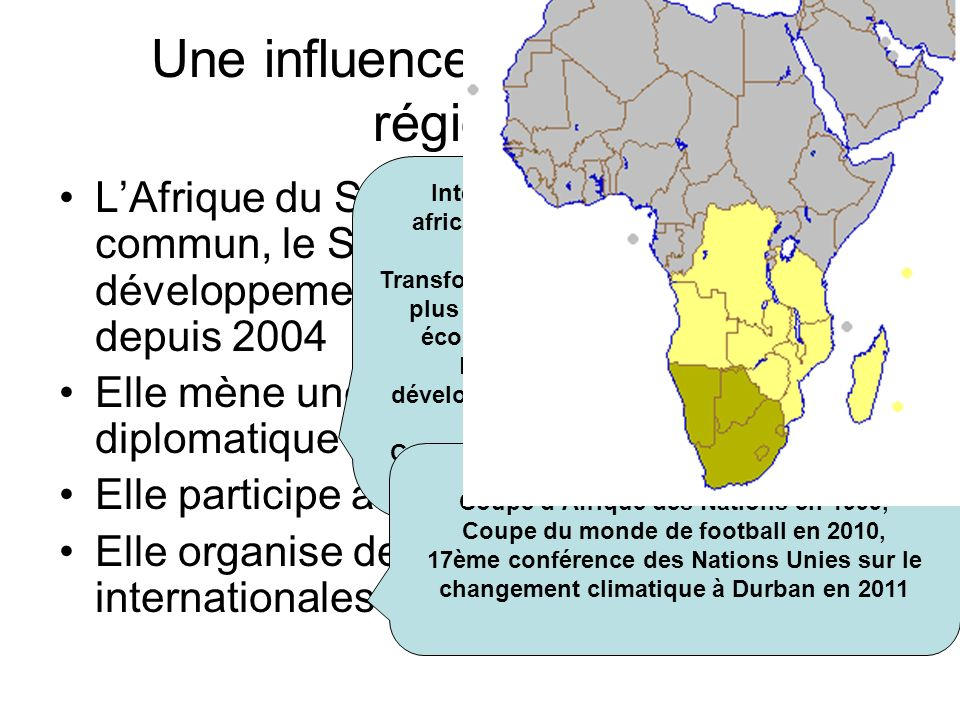 Une influence pour le moins régionale