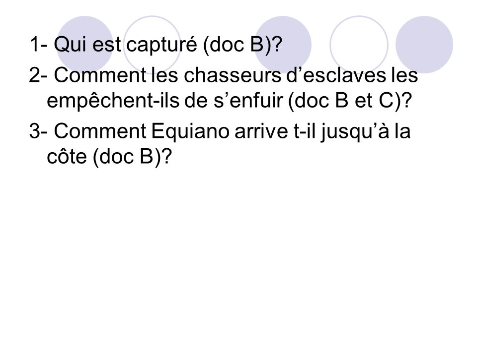 1- Qui est capturé (doc B)
