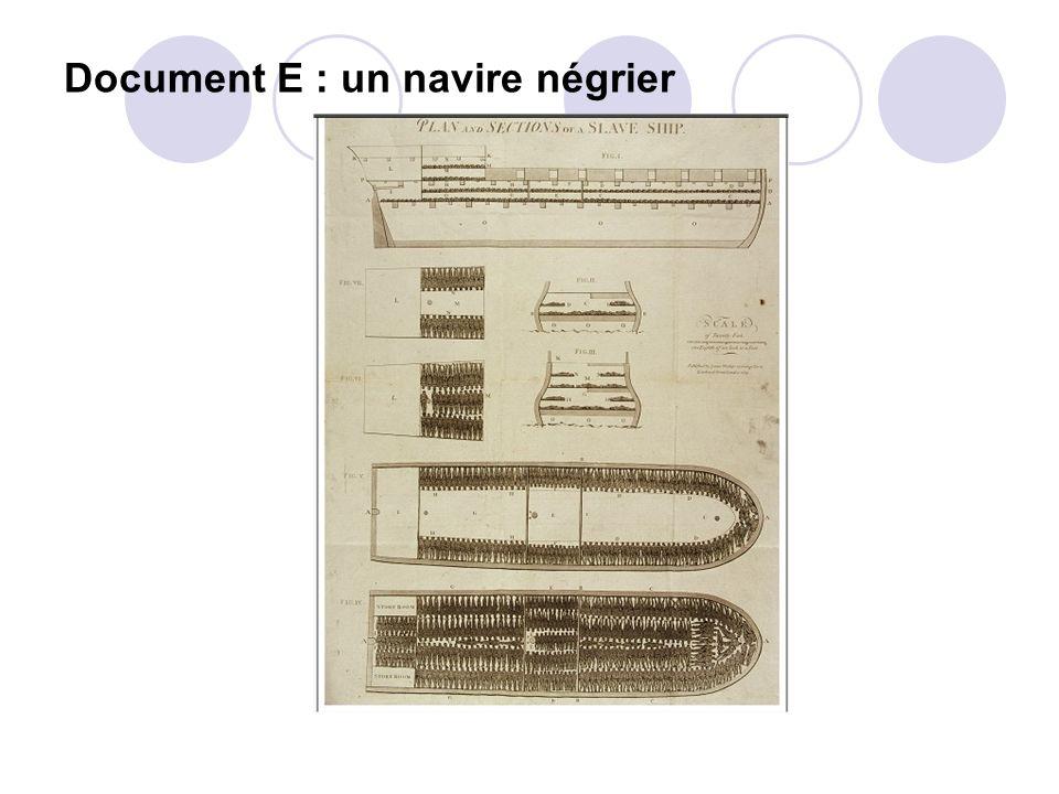 Document E : un navire négrier