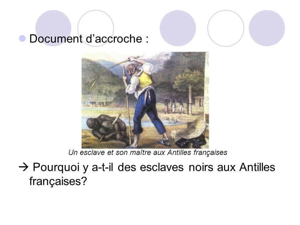 Un esclave et son maître aux Antilles françaises