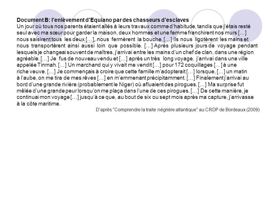Document B: l'enlèvement d'Equiano par des chasseurs d'esclaves