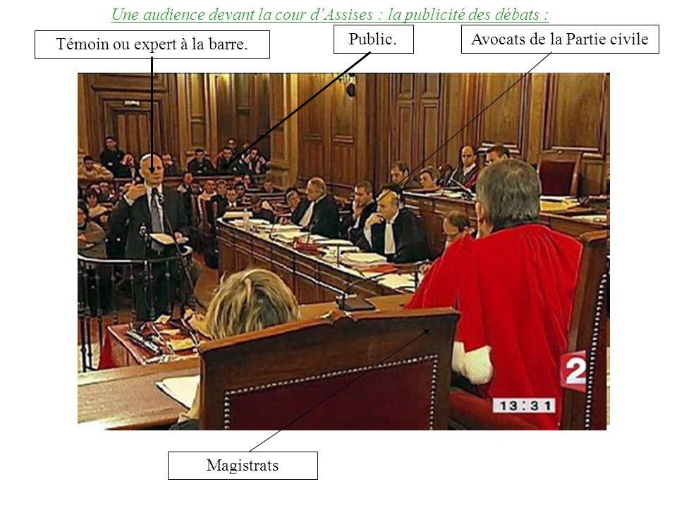 Une audience devant la cour d'Assises : la publicité des débats :