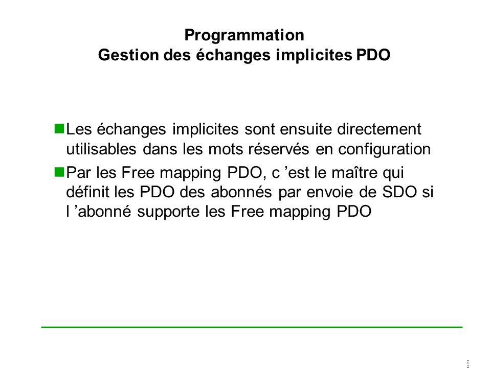 Programmation Gestion des échanges implicites PDO