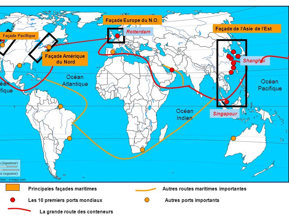 Océan Atlantique Océan Océan Pacifique pacifique Océan Indien