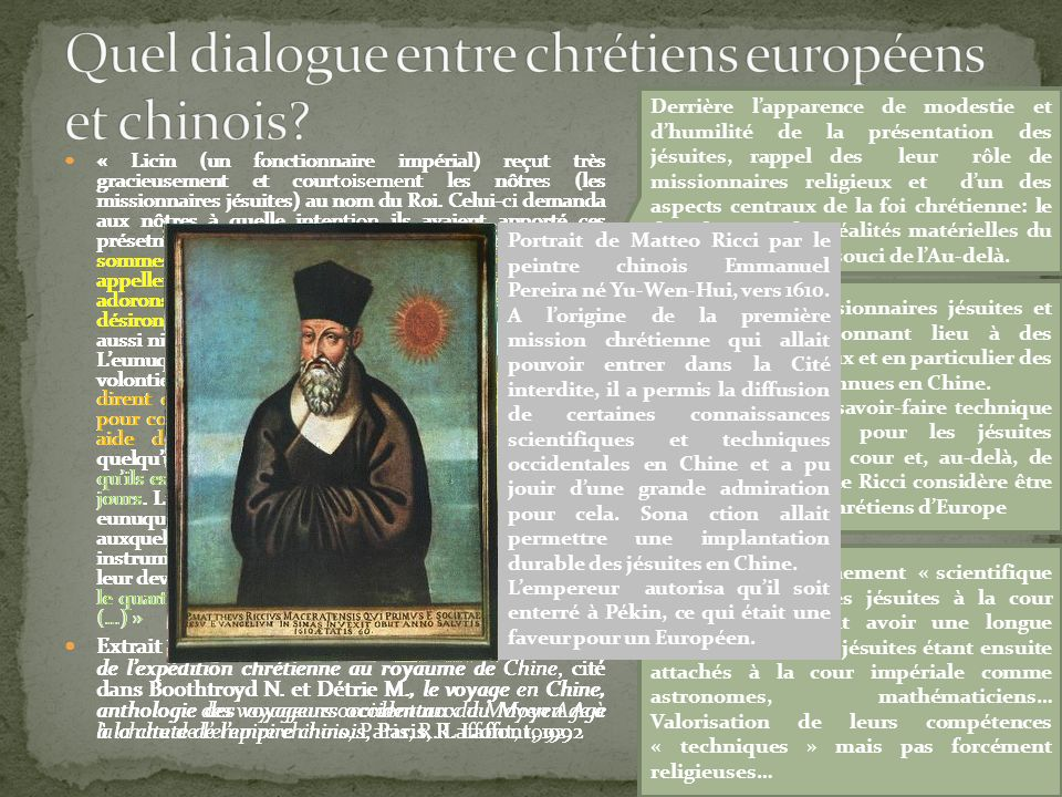 Quel dialogue entre chrétiens européens et chinois