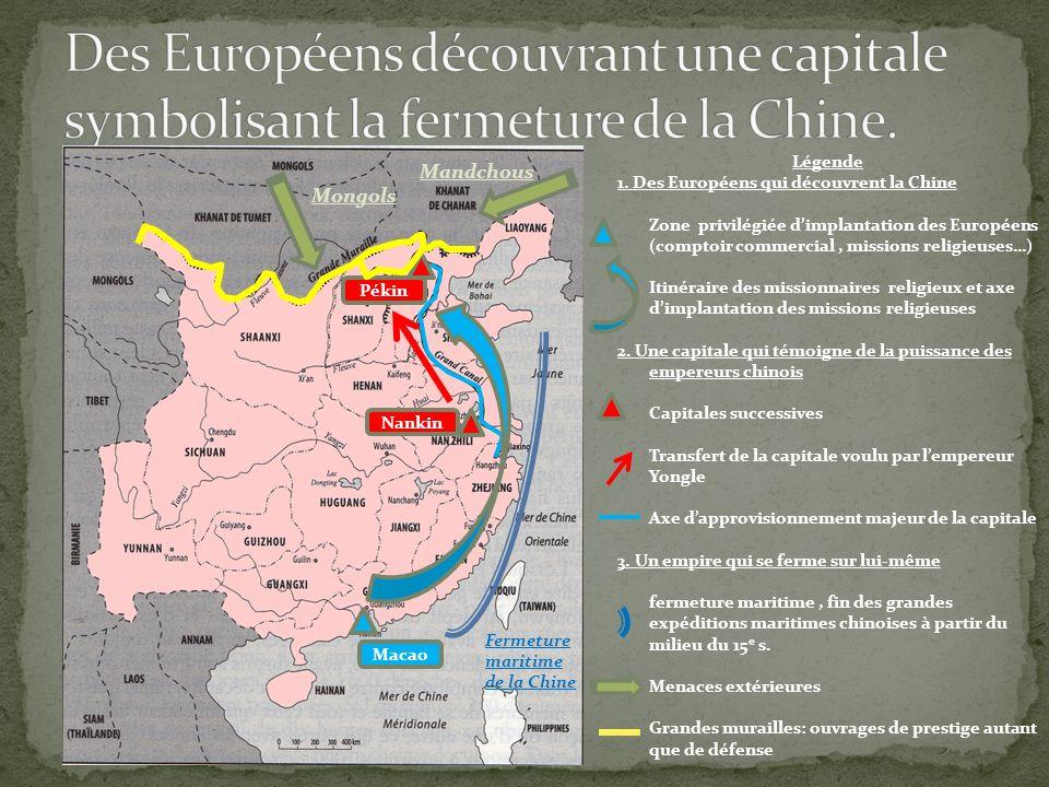 Des Européens découvrant une capitale symbolisant la fermeture de la Chine.