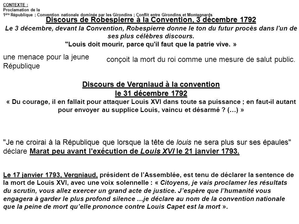 Discours de Robespierre à la Convention, 3 décembre 1792