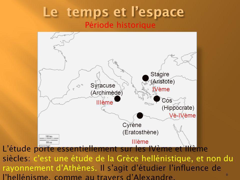 Le temps et l'espace Période historique