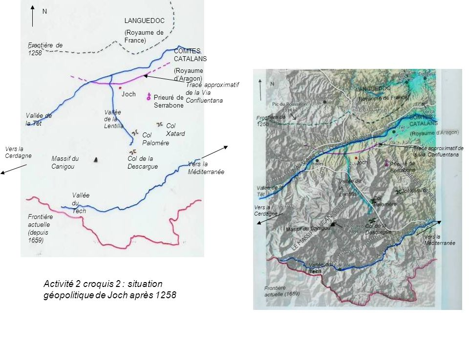 Activité 2 croquis 2 : situation géopolitique de Joch après 1258