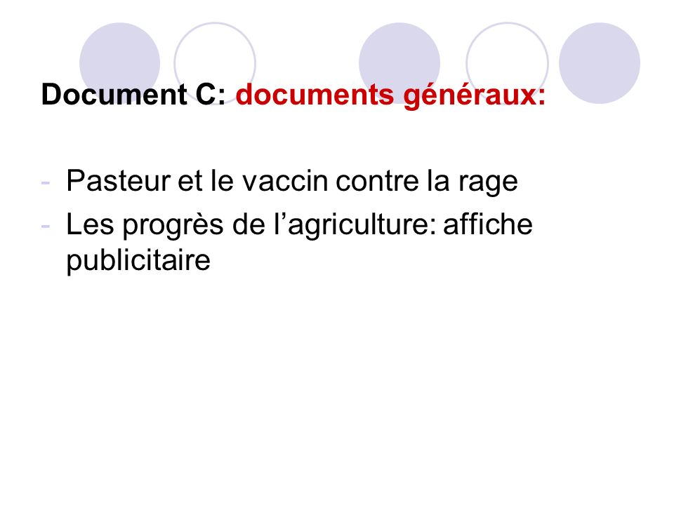 Document C: documents généraux: