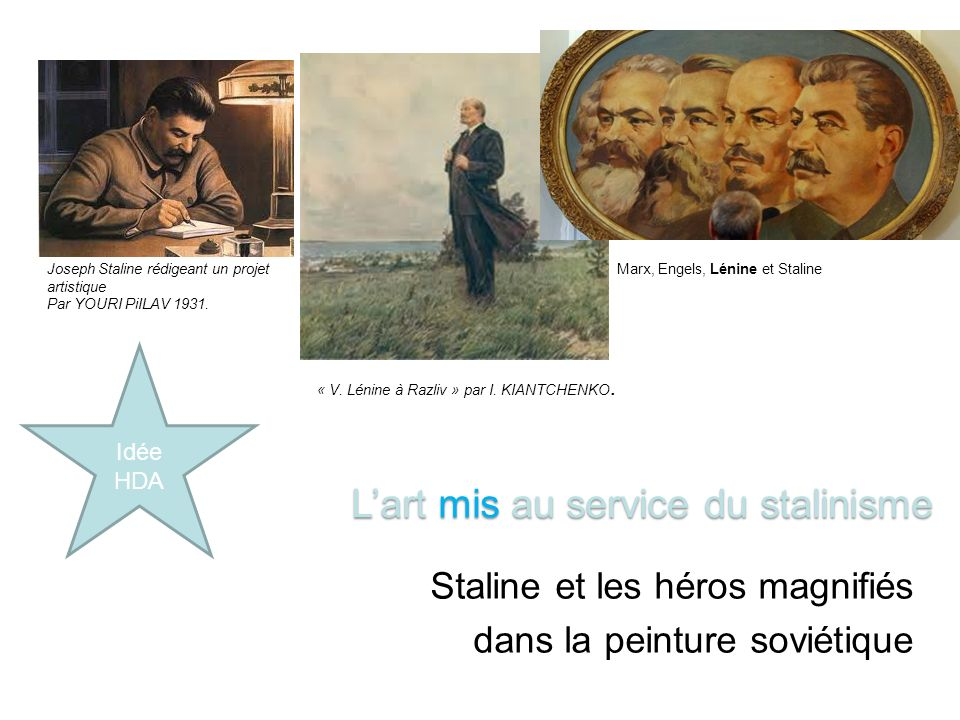 L'art mis au service du stalinisme