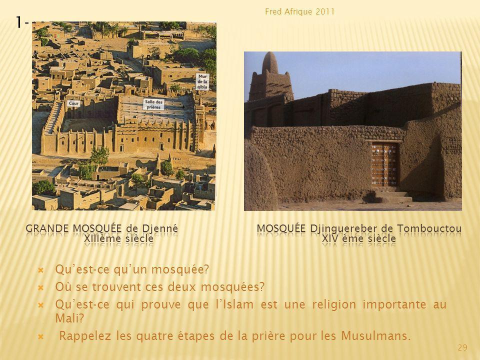 mosquée Djinguereber de Tombouctou XIV ème siècle