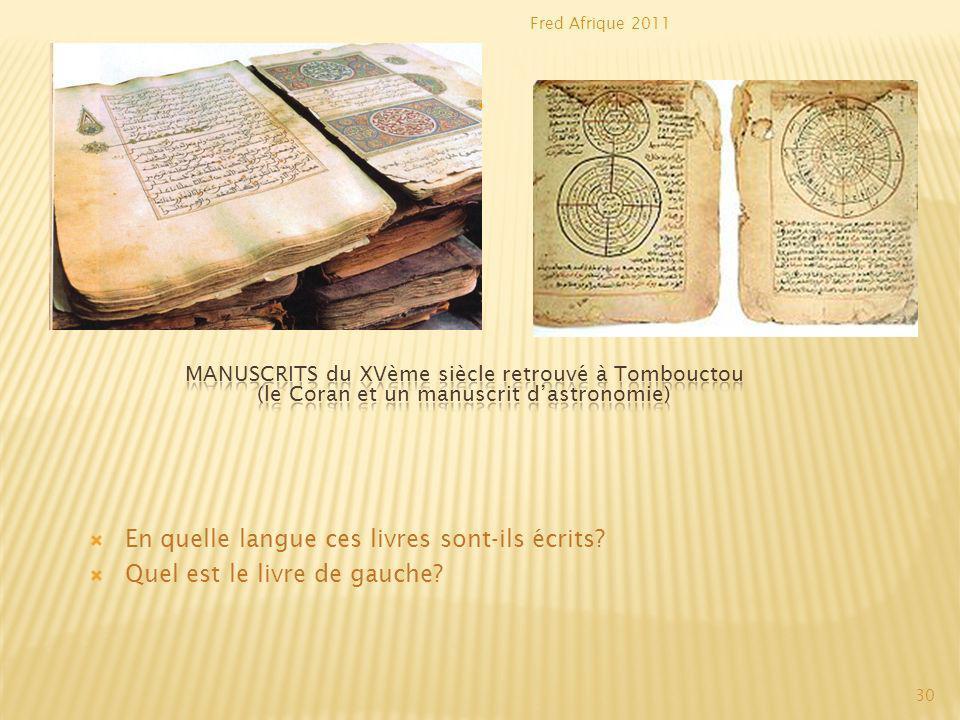 En quelle langue ces livres sont-ils écrits