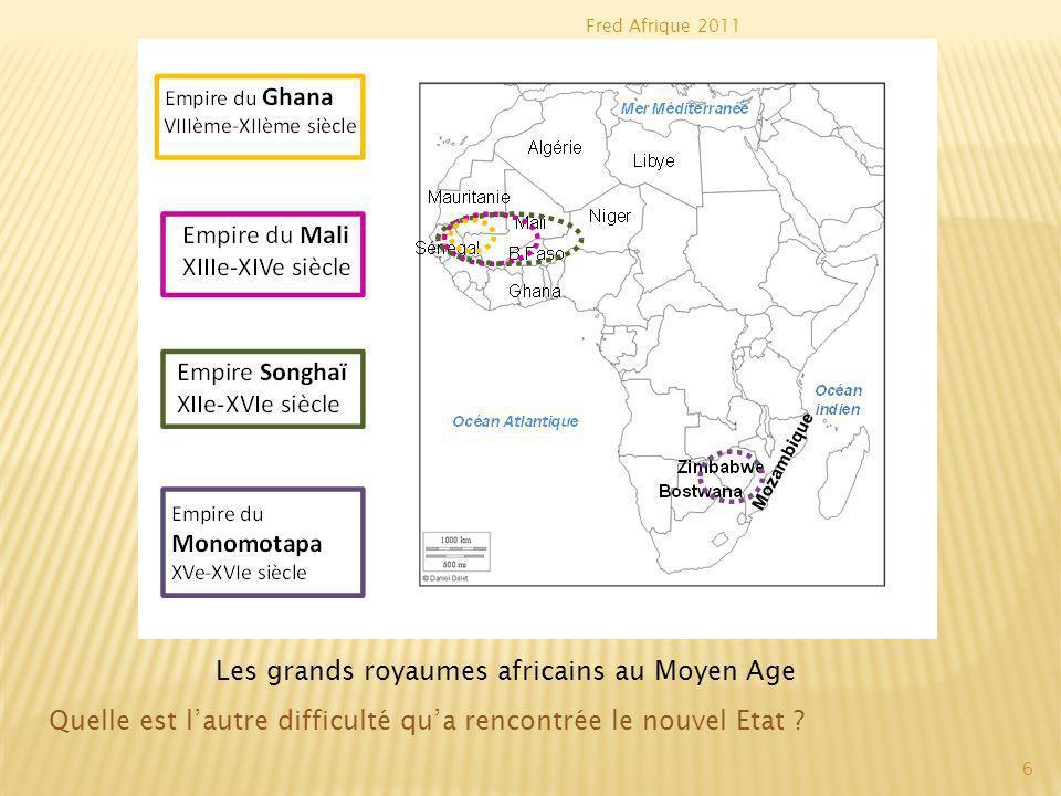 Les grands royaumes africains au Moyen Age