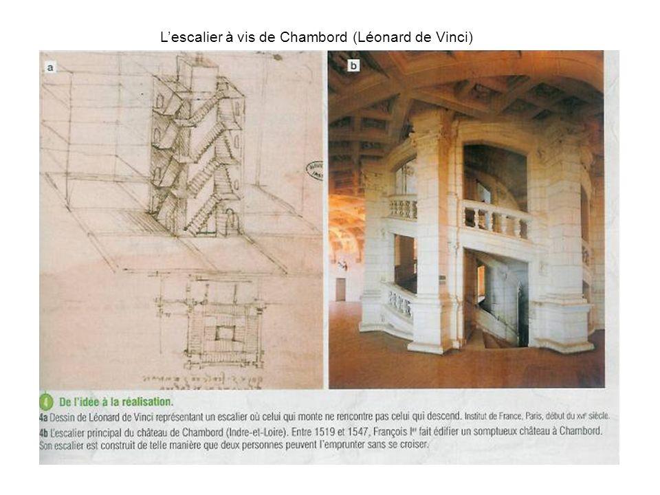 L'escalier à vis de Chambord (Léonard de Vinci)