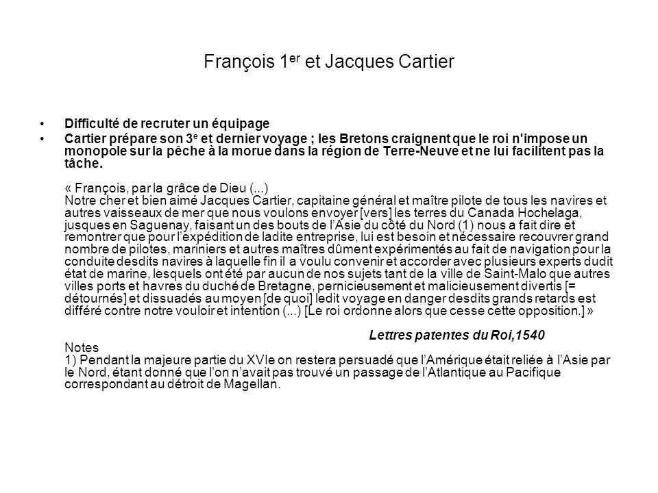 François 1er et Jacques Cartier