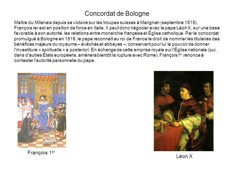 Concordat de Bologne François 1er Léon X