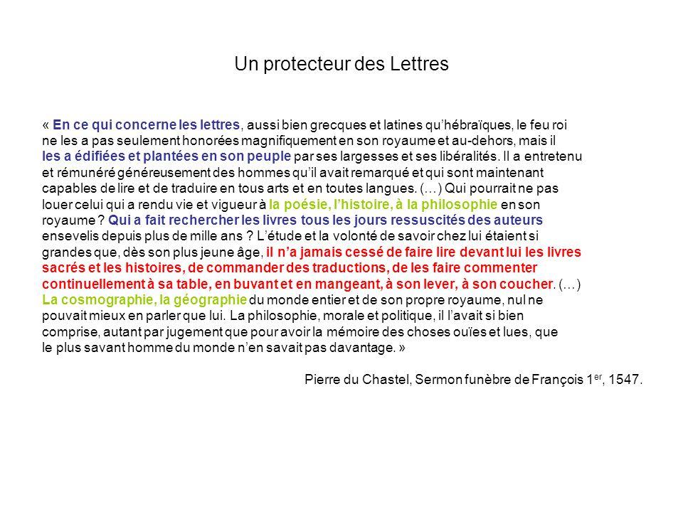 Un protecteur des Lettres