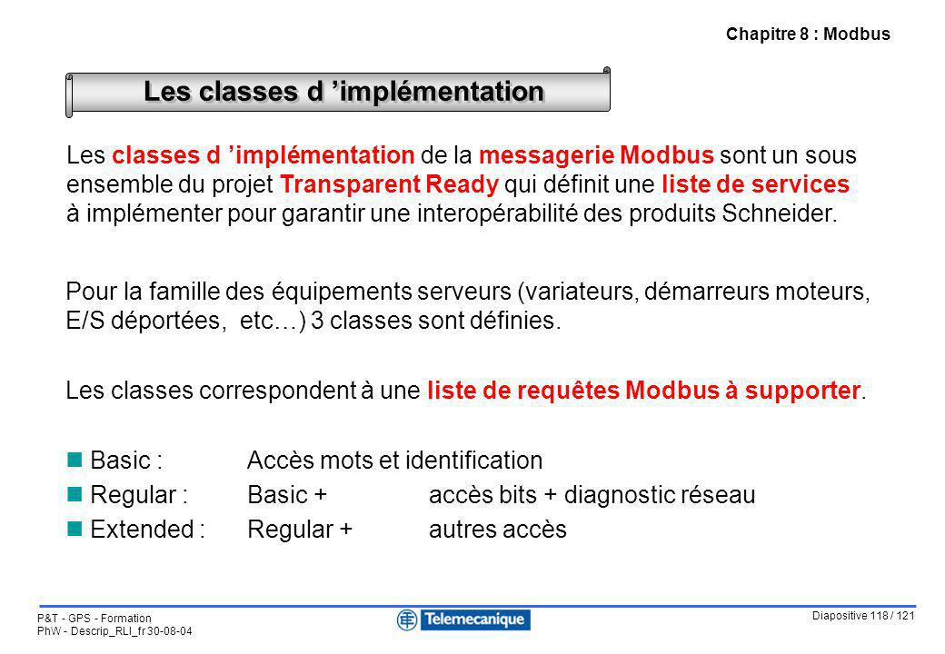 Les classes d 'implémentation