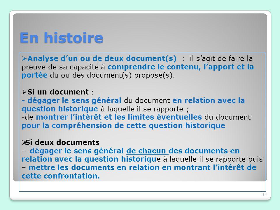 En histoire
