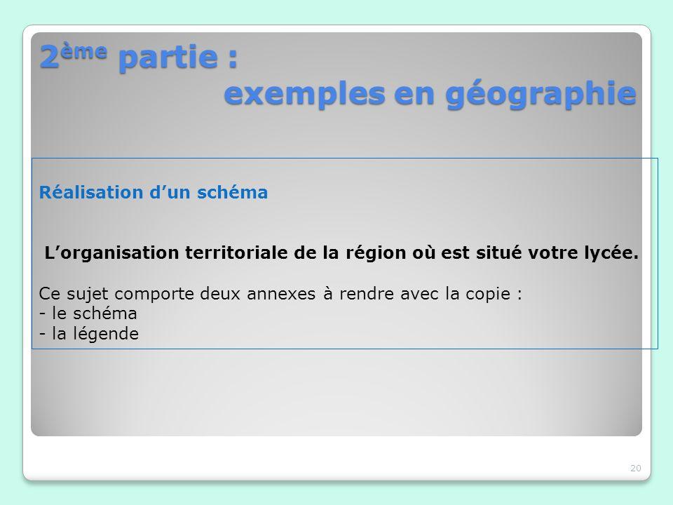 2ème partie : exemples en géographie