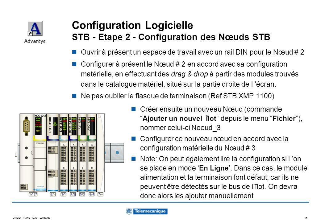 Configuration Logicielle STB - Etape 2 - Configuration des Nœuds STB