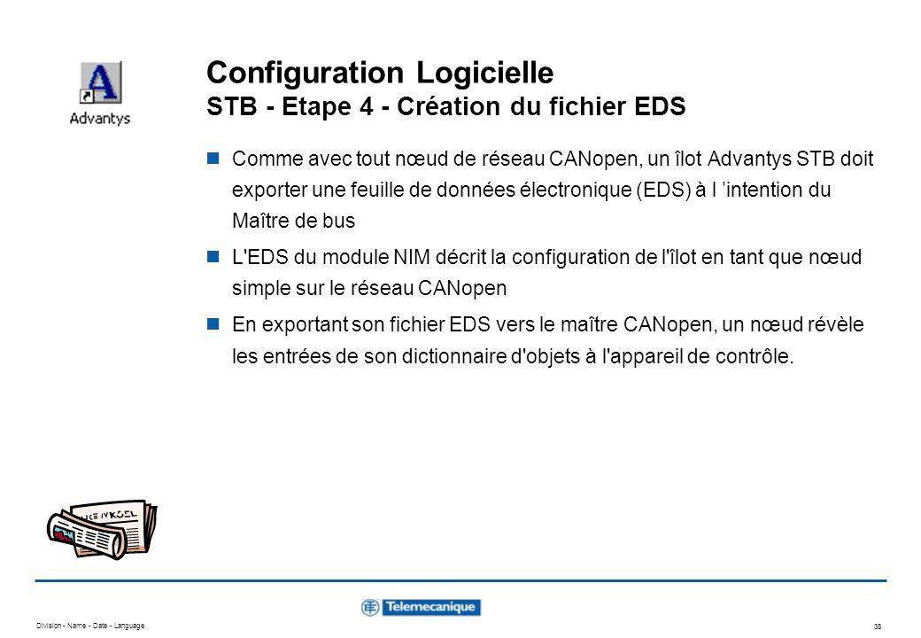 Configuration Logicielle STB - Etape 4 - Création du fichier EDS
