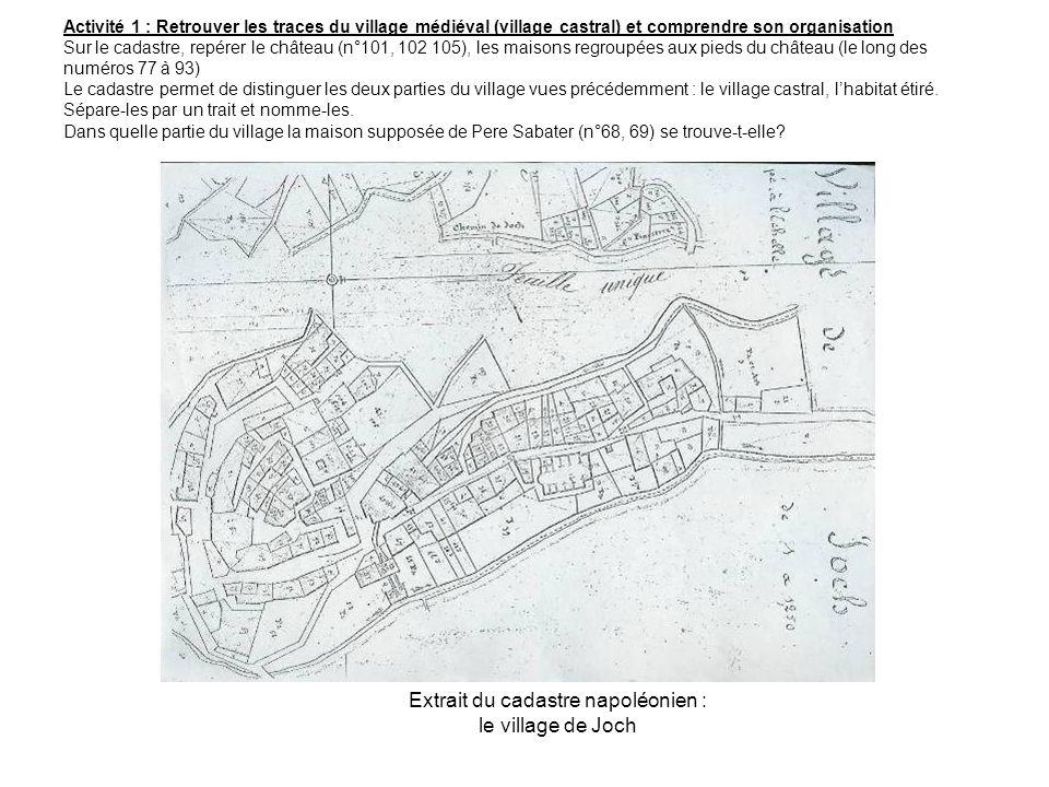 Extrait du cadastre napoléonien : le village de Joch