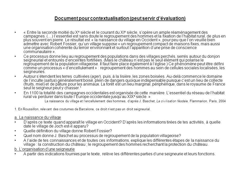 Document pour contextualisation (peut servir d'évaluation)