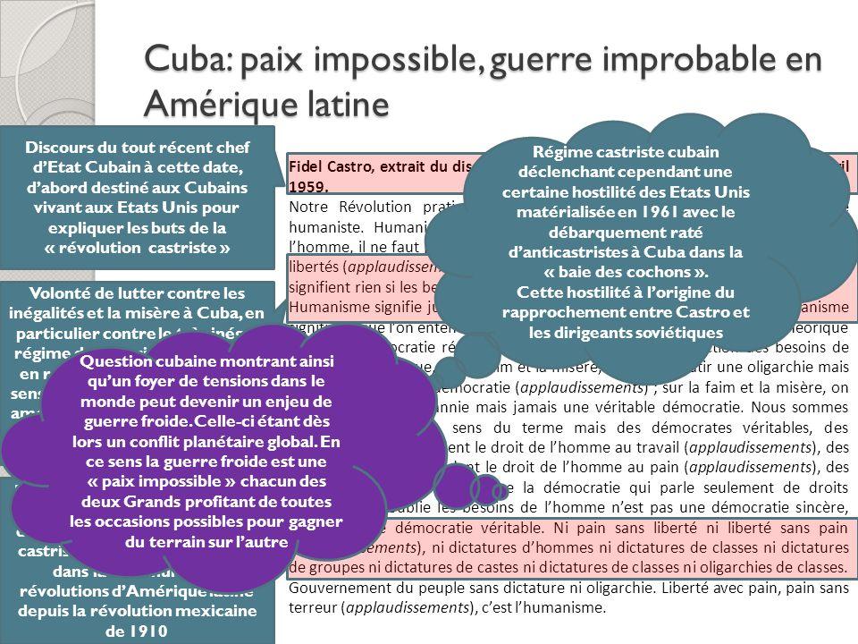 Cuba: paix impossible, guerre improbable en Amérique latine