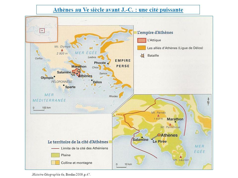 Athènes au Ve siècle avant J.-C. : une cité puissante