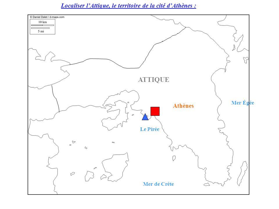 ATTIQUE Localiser l'Attique, le territoire de la cité d'Athènes :