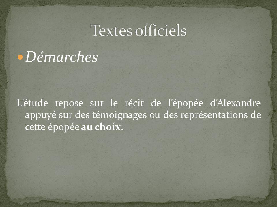 Textes officiels Démarches