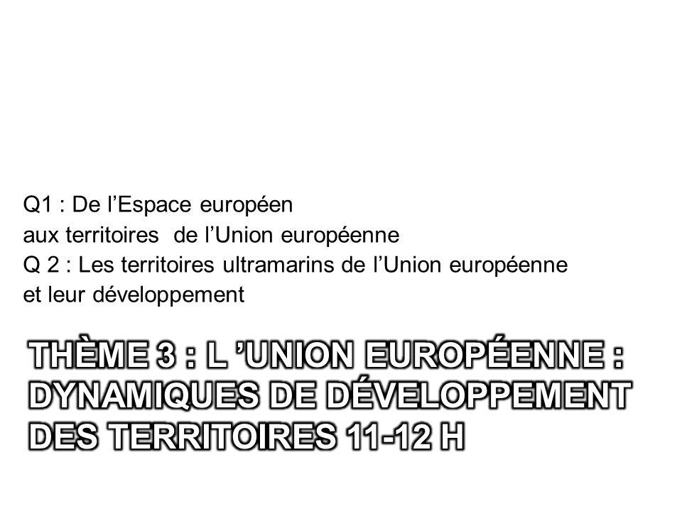 Q1 : De l'Espace européen