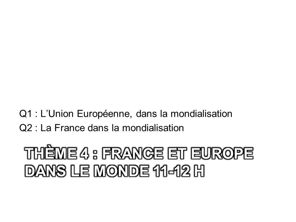 Thème 4 : France et Europe dans le monde 11-12 h