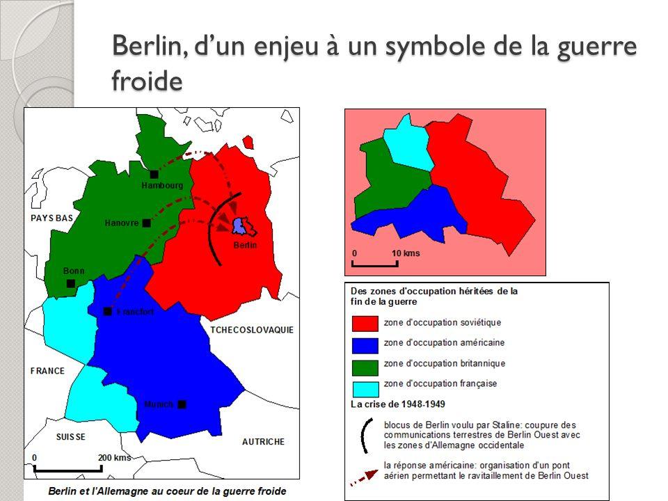 Berlin, d'un enjeu à un symbole de la guerre froide