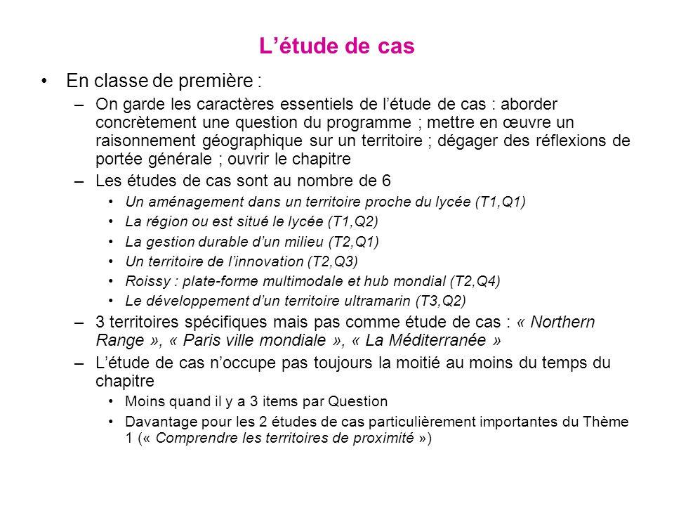 L'étude de cas En classe de première :